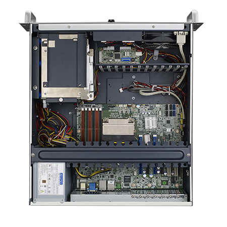 4U Industrial Rackmount Chassis for Full-size ATX/MicroATX Motherboard with 4 SAS/SATA HDD Trays